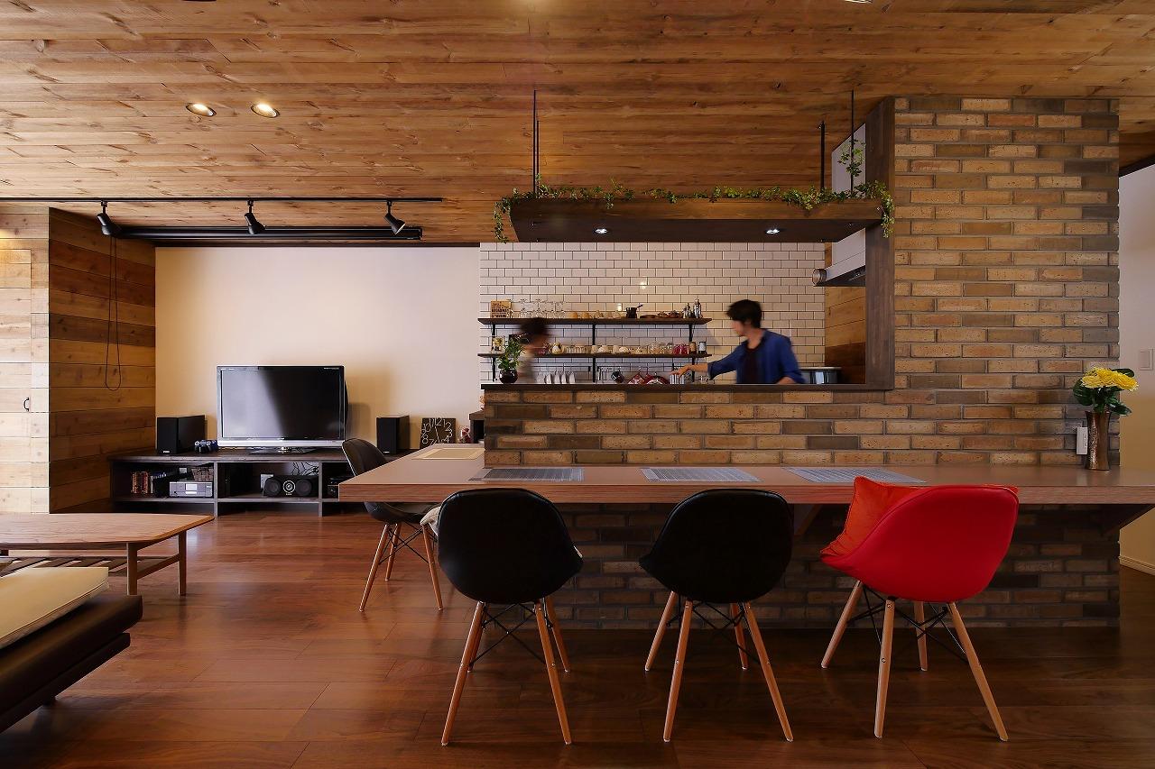 リノベーション施工事例 大阪府池田市 ホームパーティするならうちに集合!大勢が集うカフェハウス