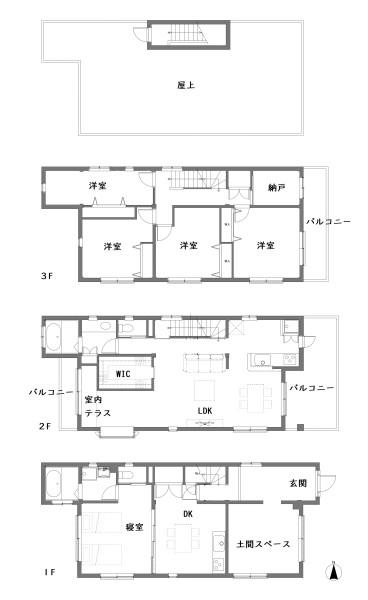 西宮の家平面図